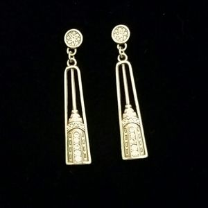 Silver/ Cystal Deco Asthetic Earrings